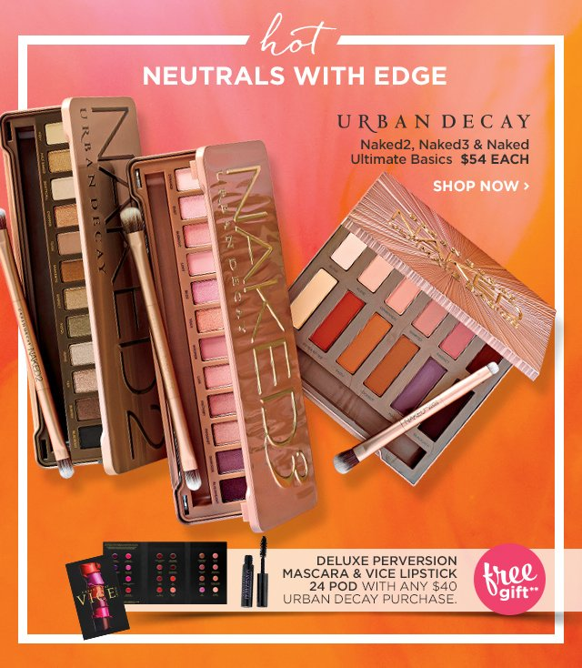 URBAN DECAY | Naked2, Naked3 and Naked Ultimate Basics $54 EACH, plus Free Gift**