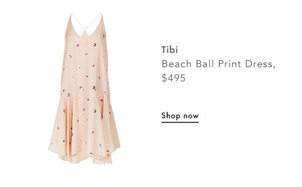 Tibi, Beach Ball Print Dress