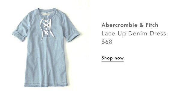 A&F, Lace Up Denim Dress