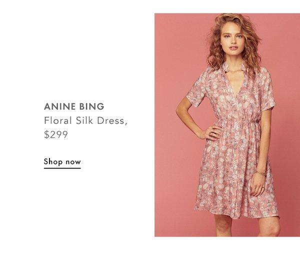 Anine Bing, Floral Silk Dress