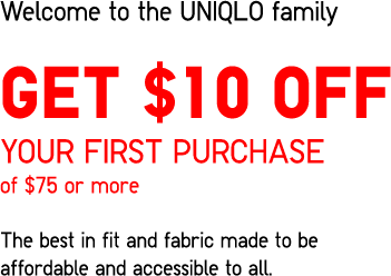 GET $10 OFF YOUR FIRST PURCHASE OF $75 OR MORE