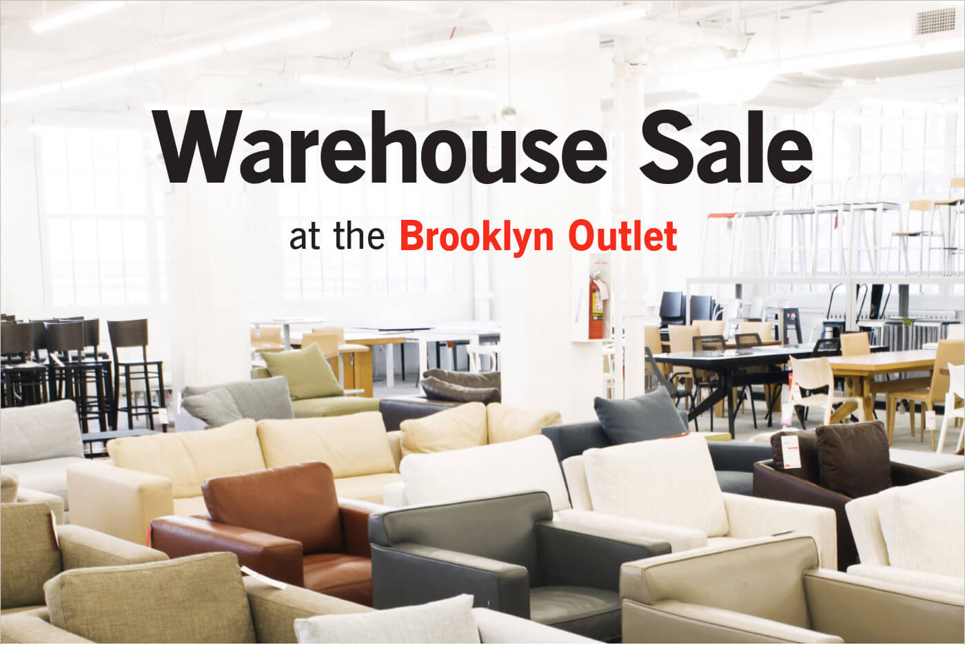 Warehouse Sale at the Brooklyn Outlet