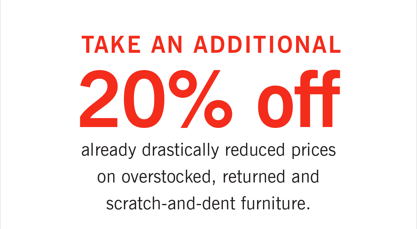Take an additional 20 percent off