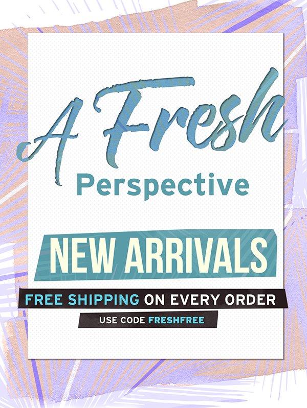 Free Shipping with code FRESHFREE thru 3/24.