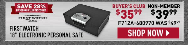"FirstWatch 18"" Electronic Personal Safe"