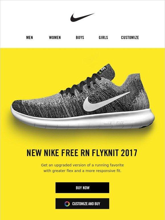 nike free rn flyknit custom