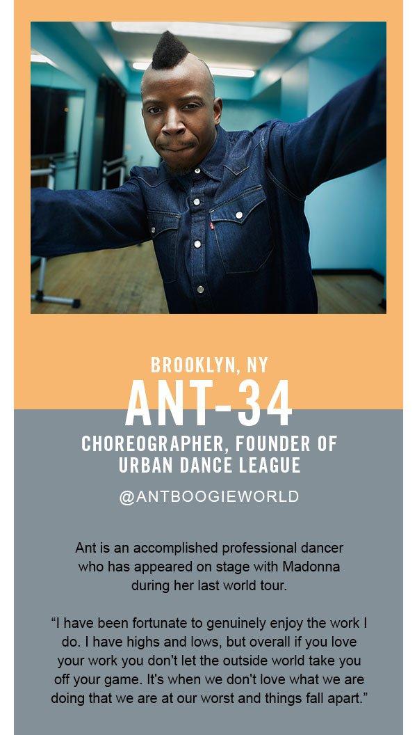 Ant, choreographer