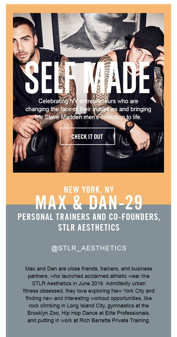 Self Made, Max and Dan, personal trainers