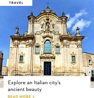 Explore an Italian city's ancient beauty