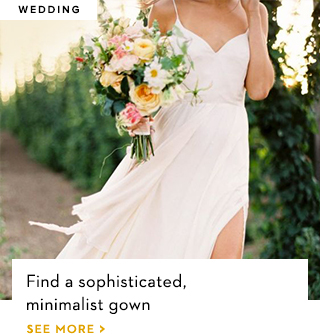 Find a sophisticated minimalist gown