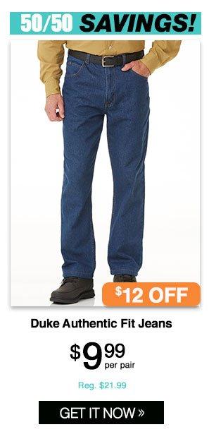 Shop Men's Duke Authentic Fit Jeans