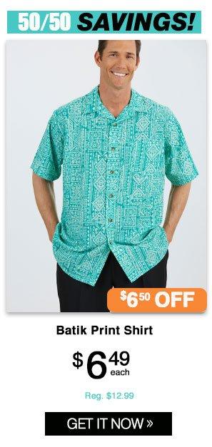 Shop Men's Batik Print Shirt
