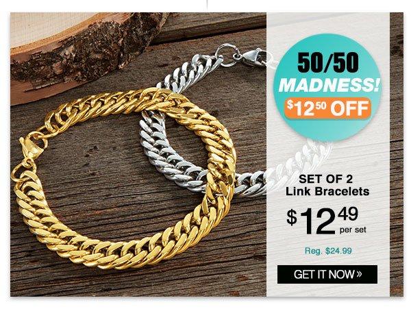 Shop Link Bracelets set of 2