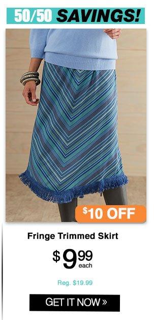 Shop Women's Fringe Trimmed Skirt