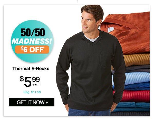 Shop Men's Thermal V-Necks