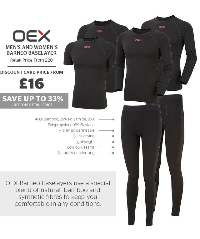 OEX's Men's and Women's Barneo Baselayer