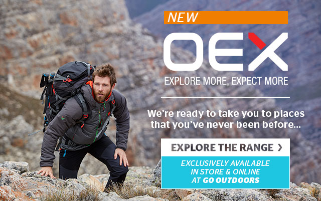 go outdoors just landed oex camping clothing and. Black Bedroom Furniture Sets. Home Design Ideas