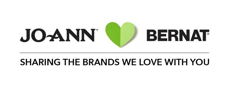 Joann Loves Bernat. Sharing the Brands We Love With You.