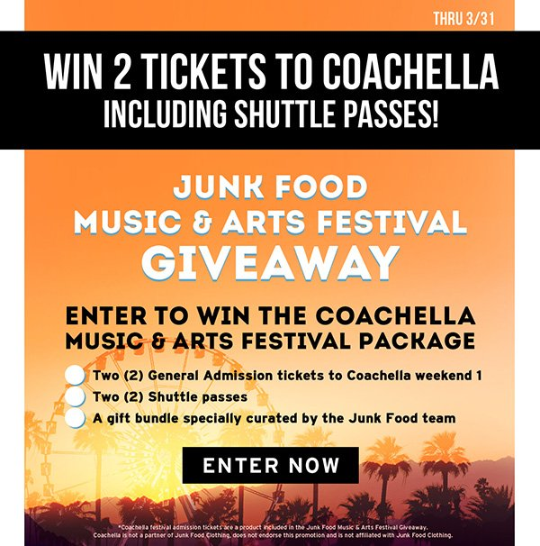 Win two tickets to Coachella!