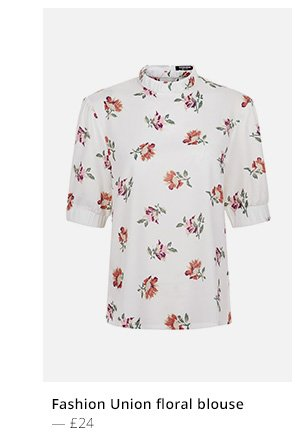 FASHION UNION FLORAL BLOUSE