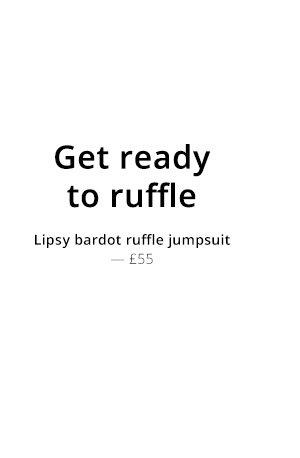 LIPSY RUFFLE BARDOT JUMPSUIT