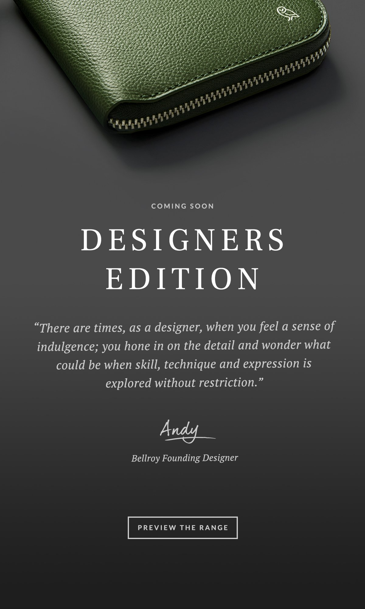 Coming Soon Designers Edition €�there Are Times, As A Designer, When You