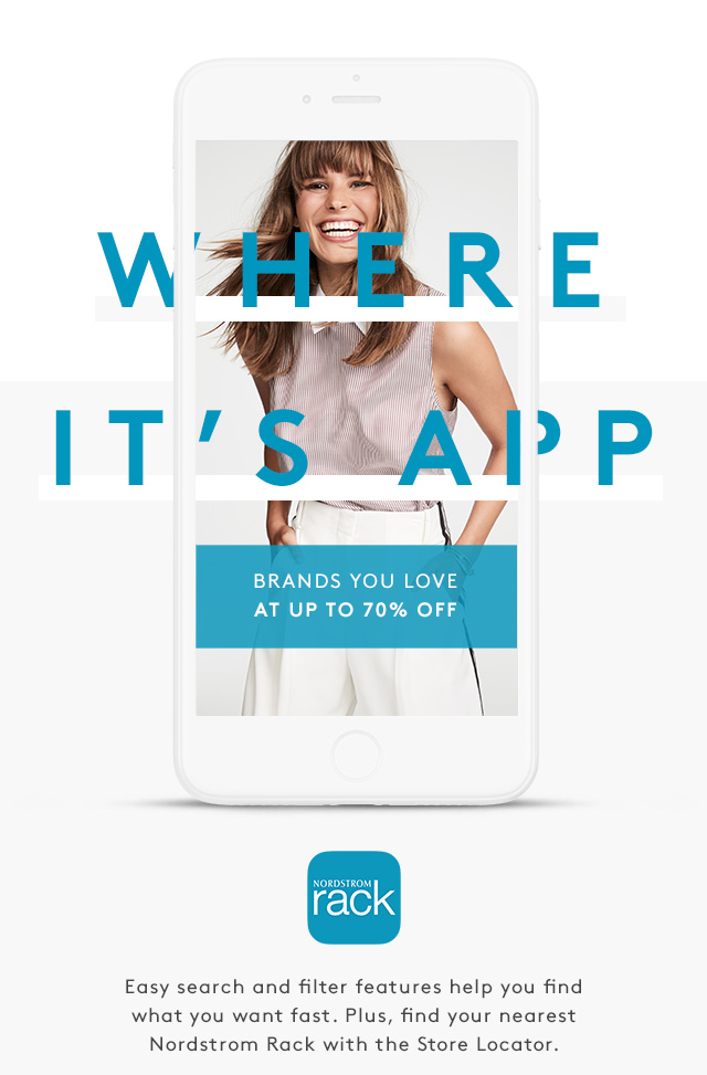4457e094b Where It's App | Brands You Love at Up to 70% Off | Nordstrom Rack