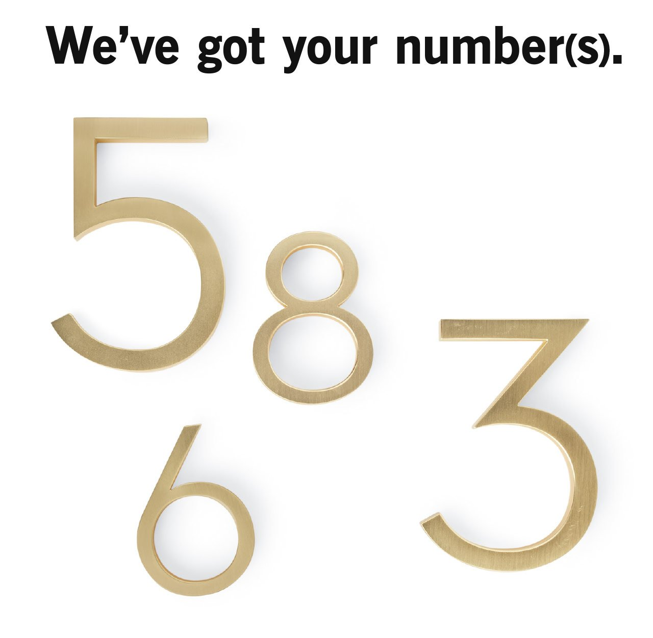 Modern house numbers fabulous home depot modern house for Modern house numbers home depot