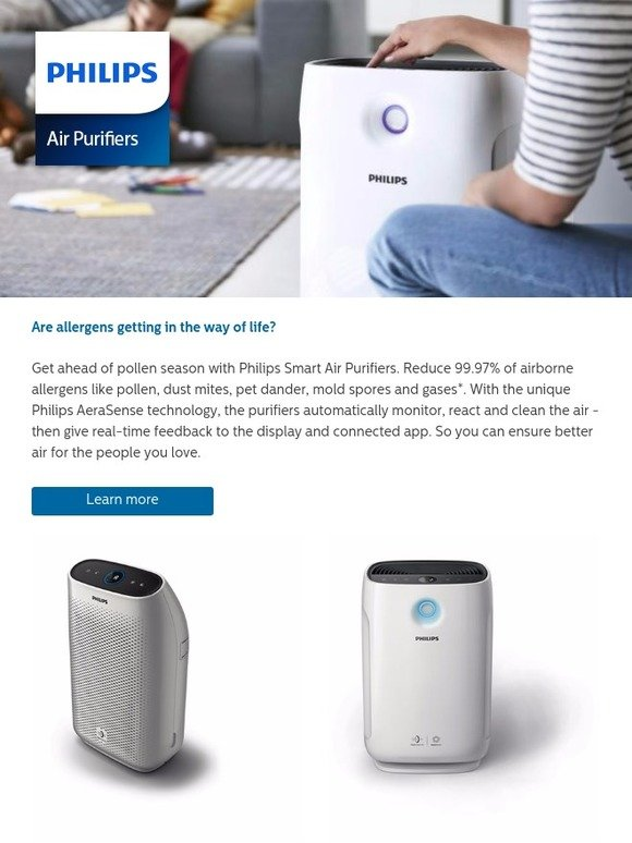Philips: Allergens holding you back? Introducing Philips