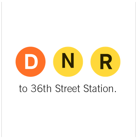 Subway Lines to 36th Street Station