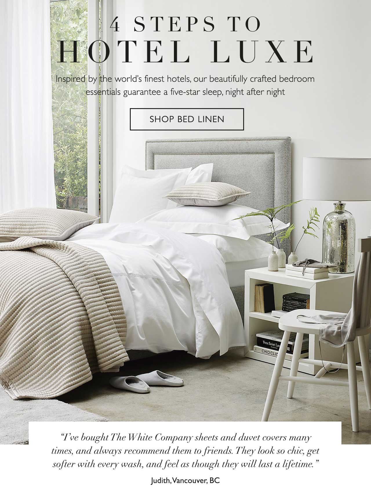 The White Company: The perfect bedroom is yours (with 20 ...