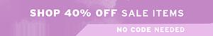 Shop 40% off Sale Items