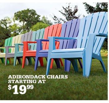 Superbe ADIRONDACK CHAIRS STARTING AT $19.99 ...