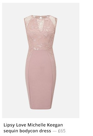 Lipsy Love Michelle Keegan sequin applique bodycon dress