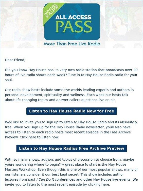 Hay House, Inc.: Hay House Radiou0027s Best Kept Secret! | Milled