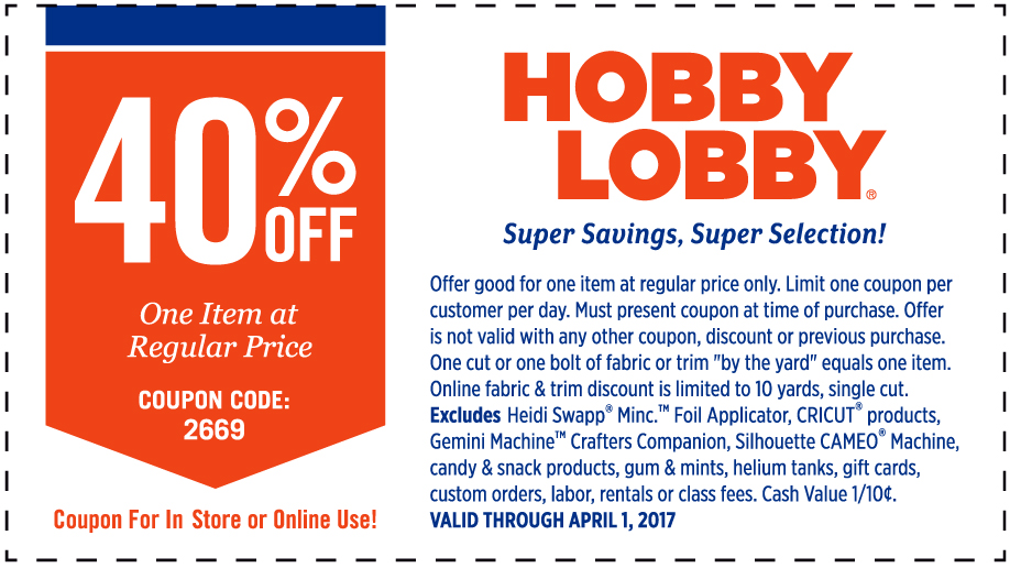 40 Off One Item At Regular Price Valid Through April 1 2017 S13 Bottom Banner LACL