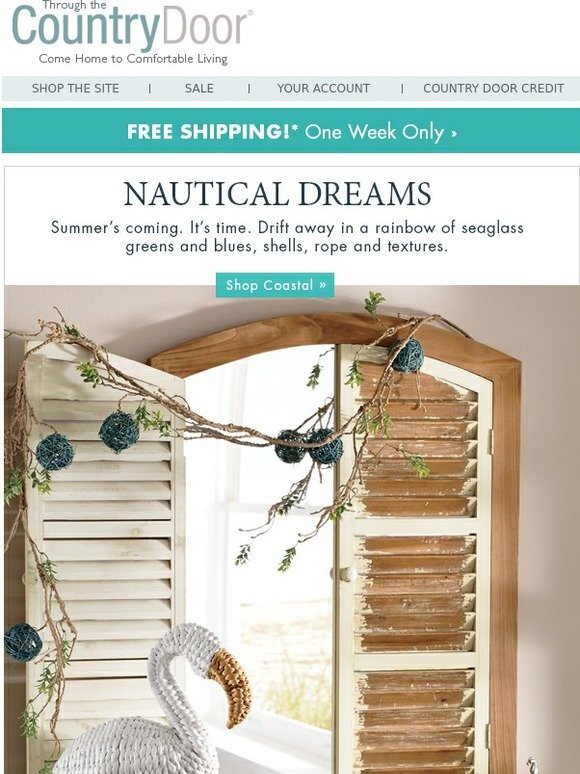 Country Door Free Shipping One Week Only Milled
