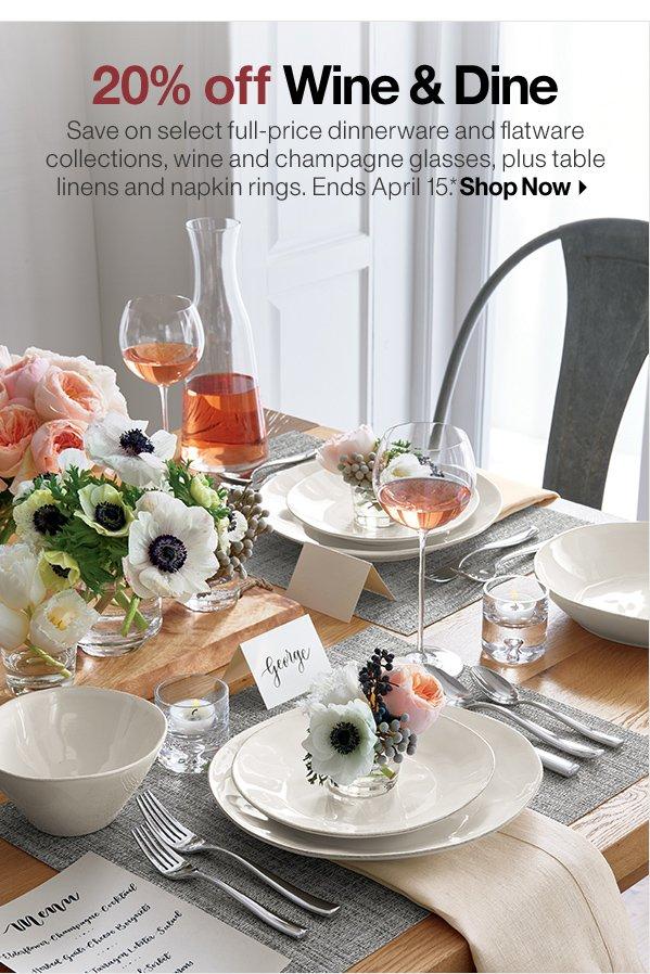 Marin Dinnerware Reg. $4.95u2013$59.95 Sale $3.96u2013$47.96 & Crate and Barrel: Annual Wine u0026 Dine sale: So many ways to save ...