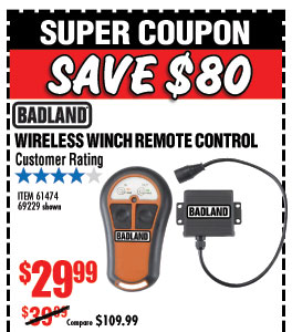 Harbor Freight: Attention 4 Wheelers • Save up to 72% on 4
