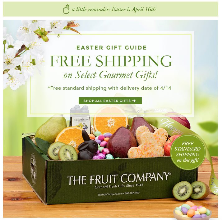 The fruit company easter gift guide free shipping on select free shipping on select gourmet gifts negle Image collections
