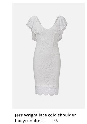 Jess wright lace cold shoulder bodycon dress