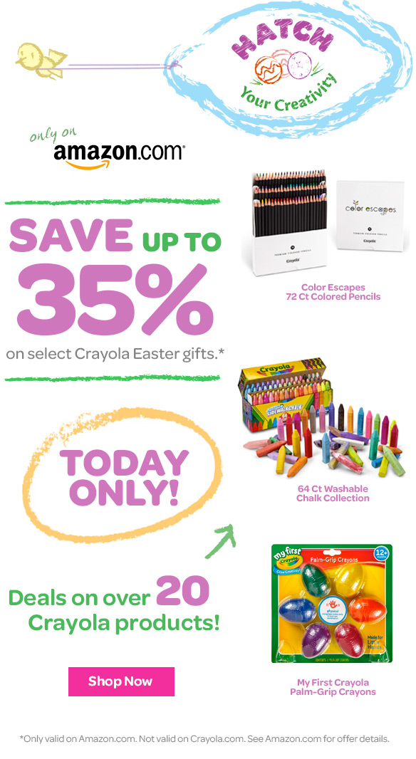 Crayola amazon easter gift deals milled shop crayola day of deals on amazon 35 negle Choice Image