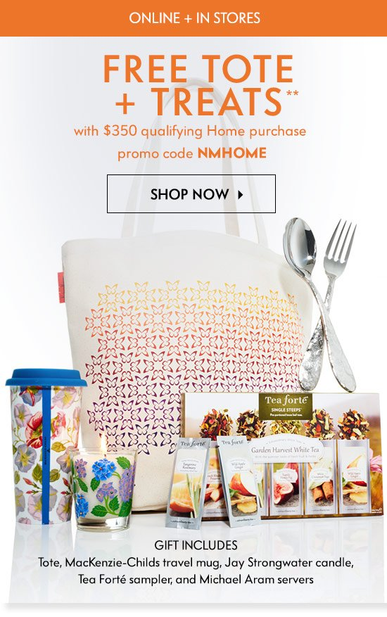 Neiman Marcus: Free gift: Tote + treats with home purchase   Milled