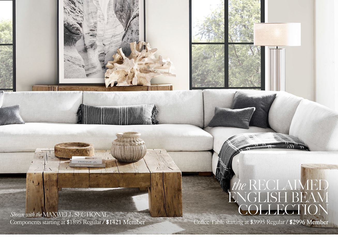 Restoration Hardware The Reclaimed English Beam Collection by