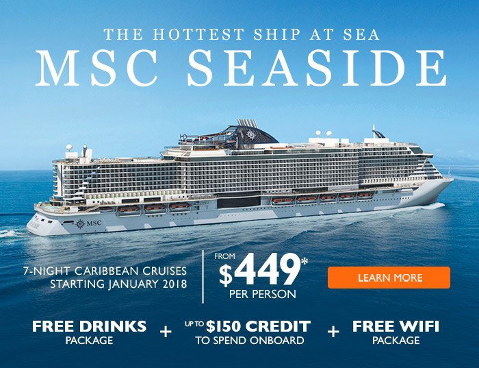 MSC Cruises Heres Your Chance To Cruise On The Hottest Ship At - Free wifi on cruise ships