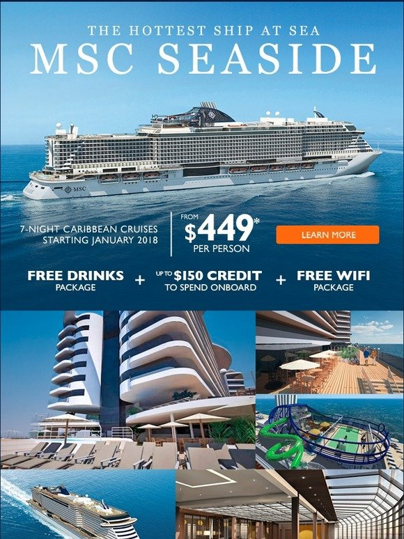 MSC Cruises: Here's your chance to cruise on the hottest ship at sea