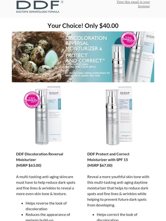 DDF Skincare: Get Clear skin this Easter! 🐇 🎀 | Milled