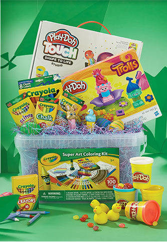 Babies r us fill their baskets with arts crafts plush for Toys r us crafts