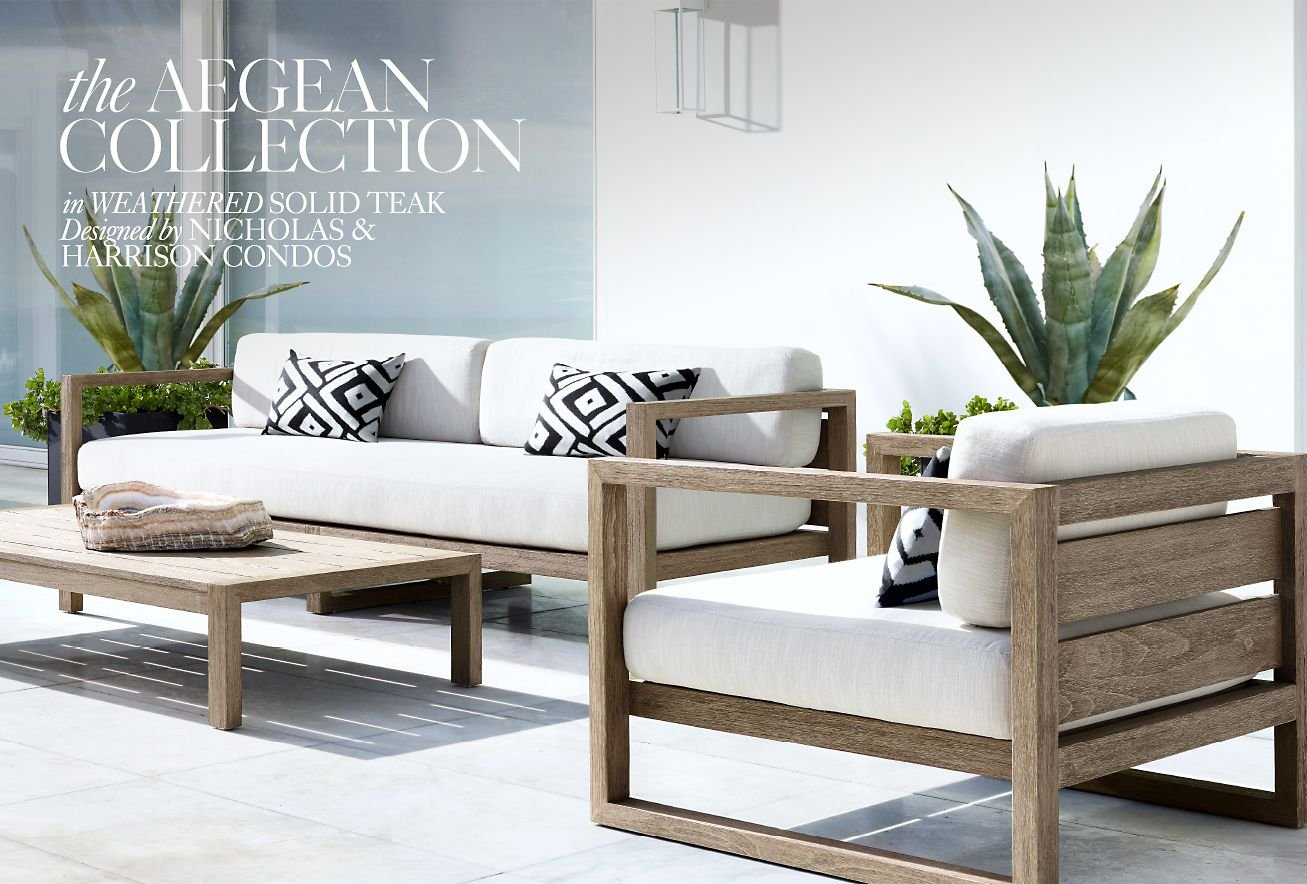 Restoration Hardware Discover The Aegean Outdoor