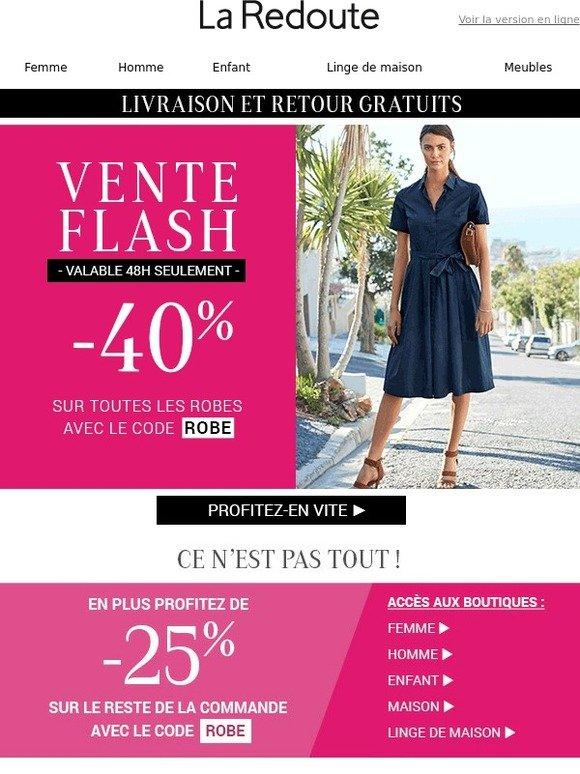 La redoute be vente flash robes 40 sur toutes les robes milled - La redoute vente flash ...